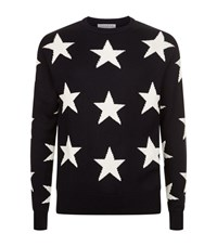 Sandro Star Sweater Male Blue