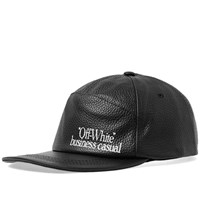 Off White 7 Panel Business Casual Cap Black