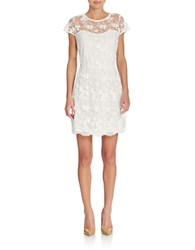 Romeo And Juliet Couture Floral Lace Dress White