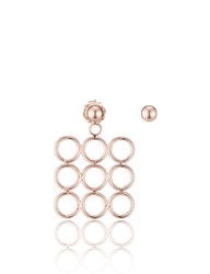 Smith Grey Rose Gold Circle Array Earrings