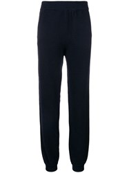 Lanvin Straight Leg Knitted Trousers Blue