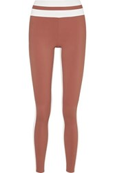 Vaara Flo Tuxedo Striped Stretch Leggings Tan