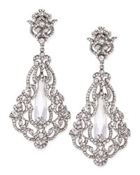 Crystal And Cubic Zirconia Clip On Earrings Silver Jose And Maria Barrera