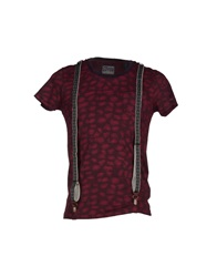 Scotch And Soda T Shirts Deep Purple