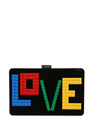 Les Petits Joueurs Andy Rainbow Love Perspex Clutch