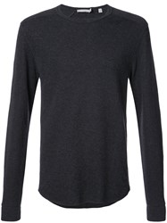 Vince Crew Neck Sweatshirt Cotton S Blue