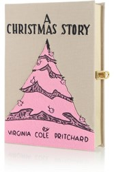 Olympia Le Tan A Christmas Story Embroidered Clutch Pink