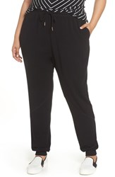 Caslon Plus Size Jogger Pants Black