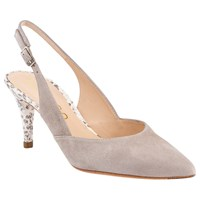 Unisa Karlin Pointed Toe Slingback Court Shoes Ice Grey