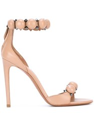 Alaia Pyramid Studs Detail Sandals Nude Neutrals