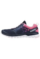 Reebok Sublite Xt Neutral Running Shoes Collegiate Navy Poison Pink White Dark Blue