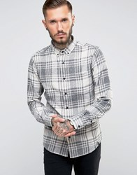Only And Sons Flannel Check Shirt Cloud Dancer White