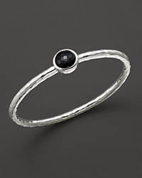 Ippolita Sterling Silver Rock Candy Click Bangle In Black Onyx
