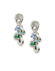 Uno De 50 Ride Chandelier Drop Earrings Silver