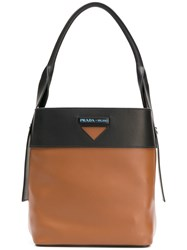 Prada Secchiello Tote Brown