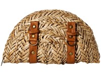 San Diego Hat Company Bsb1563 Woven Seagrass Clutch With Faux Leather Straps And Buckle Details Natural Clutch Handbags Beige