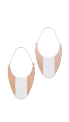 Tory Burch Multi Color Drop Earrings Ivory Rose Gold