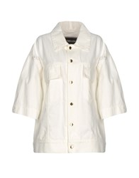 Marco Bologna Denim Outerwear White
