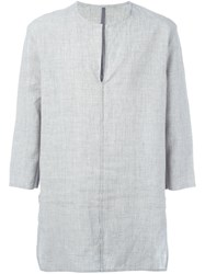 Kazuyuki Kumagai Three Quarter Sleeve Top Grey