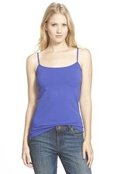Petite Women's Halogen 'Absolute' Camisole Blue Spectrum
