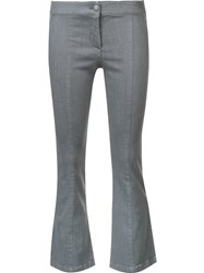 Veronica Beard Flared Cropped Jeans Grey
