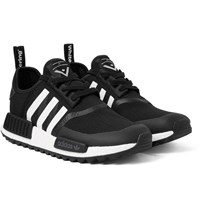 Adidas Originals White Mountaineering Nmd Trail Rubber Trimmed Primeknit Sneakers Black