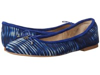 Sam Edelman Felicia Indigo Blue Tie Dye Fabric Women's Flat Shoes