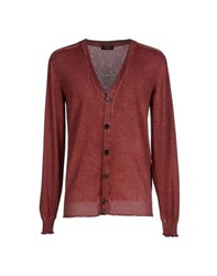 Allegri Knitwear Cardigans Men Brick Red