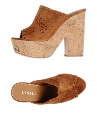Le Silla Mules Brown