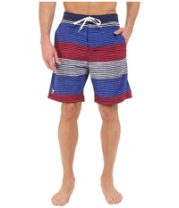 Tyr Apollo Jetty Stripe Apollo Swim Shorts Red White Blue Men's Swimwear Multi