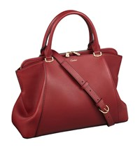 Cartier Small C De Leather Tote Bag Red
