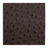 Amara Emu Effect Recycled Leather Placemat Dark Chocolate