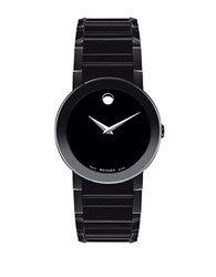 Movado Mens Pvd Finished Stainless Steel Bracelet Watch Black
