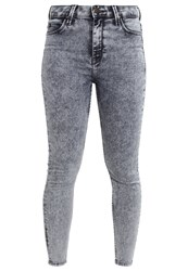 Lee Scarlett High Cropped Slim Fit Jeans Snow Bleach Moon Washed