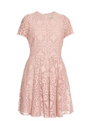 Burberry Velma Crochet Lace Dress Light Pink