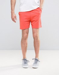 Asos Jersey Shorter Length Short In Orange Red