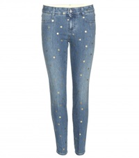 Stella Mccartney Metallic Polka Dot Jeans Blue