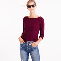 J.Crew Three Quarter Sleeve Ballet T Shirt