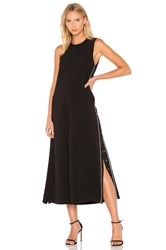 Kendall Kylie Wide Leg Snap Jumpsuit Black