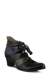 Spring Step Women's Estrela Ghillie Bootie Purple Multi Leather
