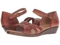 Comfortiva Fortune Rust Wedge Shoes Red