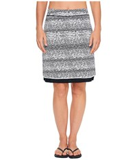 Exofficio Wanderlux Reversible Print Skirt Black White Women's Skirt