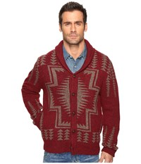 Pendleton Harding Shawl Cardigan Maroon Men's Sweater Red