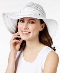 Inc International Concepts Metallic Beaded Floppy Hat Only At Macy's White