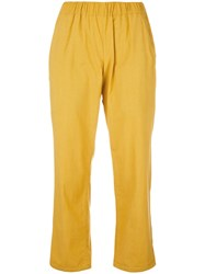 Water Cropped Lounge Trousers Yellow Orange