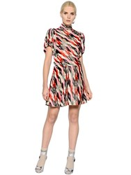 Etoile Isabel Marant Puff Sleeves Printed Velvet Dress