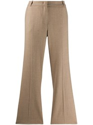 Kiltie Cropped Flared Trousers 60