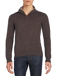 Saks Fifth Avenue Mockneck Cashmere Sweater Stone Chip