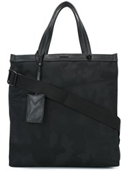 Moncler Camouflage Pattern Tote Black