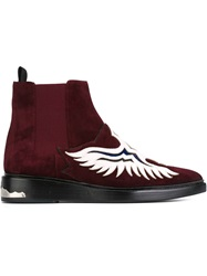 Toga Pulla Western Style Ankle Boots Red